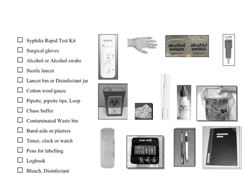 Checklist of Materials and Supplies