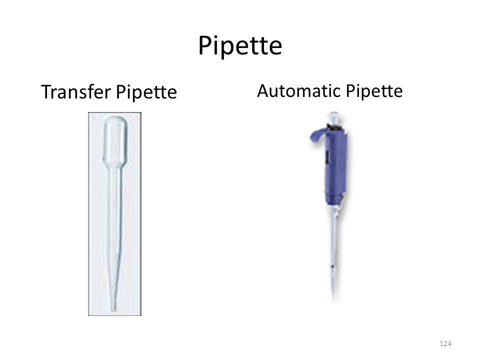 Pipette Transfer Pipette 124 Automatic Pipette