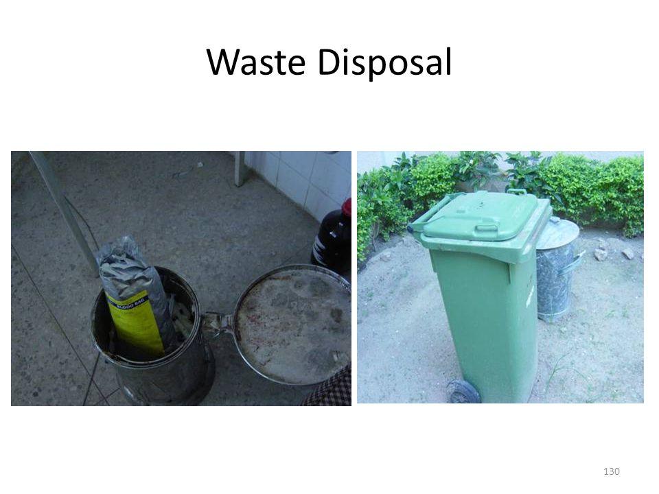 Waste Disposal 130