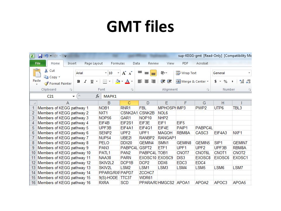 GMT files