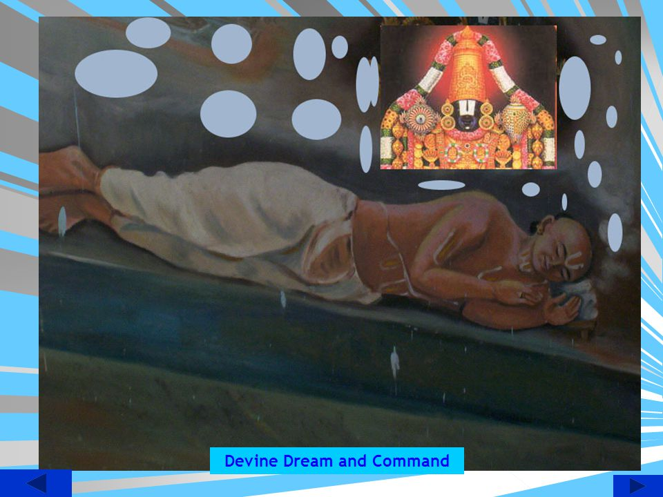 Imaginary view of Swami Doing Managalasasnam to Lord Devanathan.