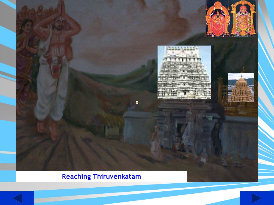 Hygreeva Shakshathkaram and Gets the Hygreeva Vigram from Lord himself Picture on right side is Swami Holding the Hayagreeva Vigraham