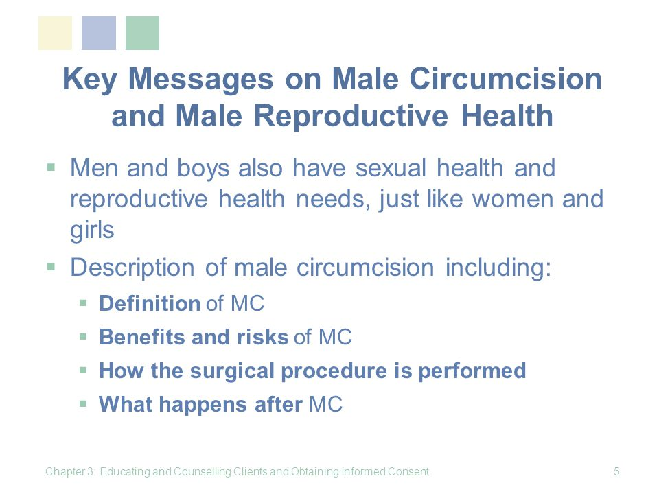 Counselling about Male Circumcision Chapter 3: Educating and Counselling Clients and Obtaining Informed Consent16