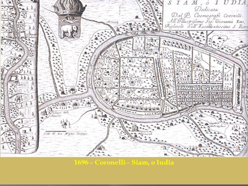 1696 – Coronelli – Siam, o Iudia