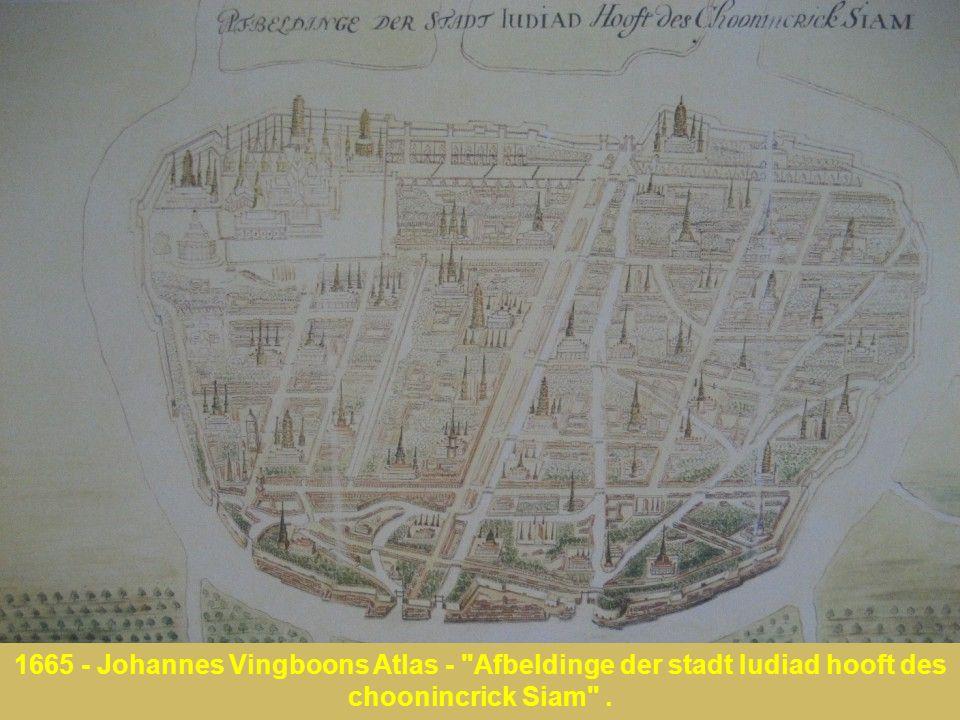 1665 - Johannes Vingboons Atlas - Afbeldinge der stadt Iudiad hooft des choonincrick Siam .