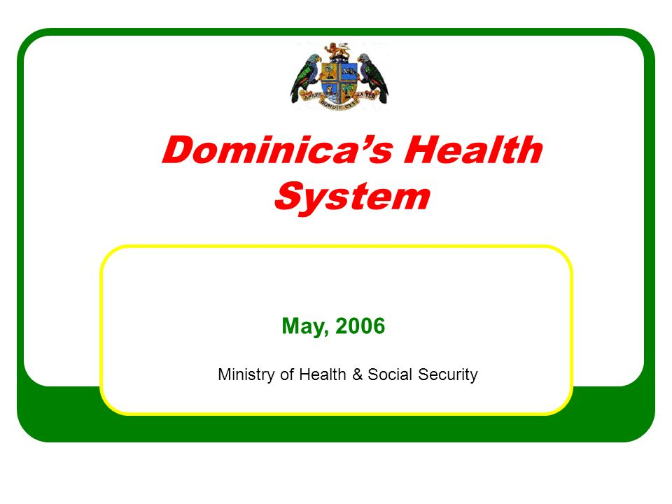 Ministry of Health & Social Security NUTRITION EDUCATION/PHYSICAL ACTIVITIES