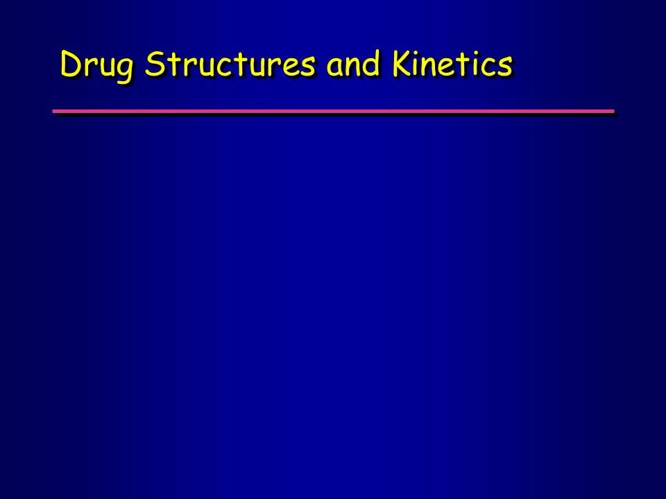 Drug Structures and Kinetics