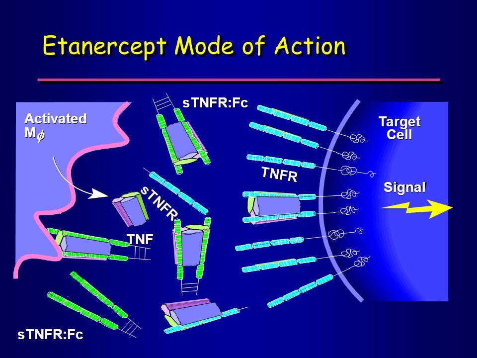 Etanercept Mode of Action M   Target Cell Signal sTNFR TNF TNFR sTNFR:Fc