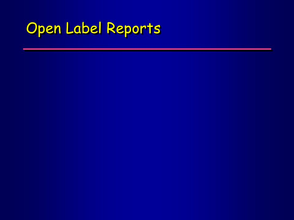 Open Label Reports