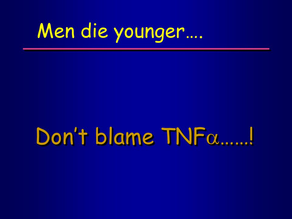 Don't blame TNF  ……! Men die younger….