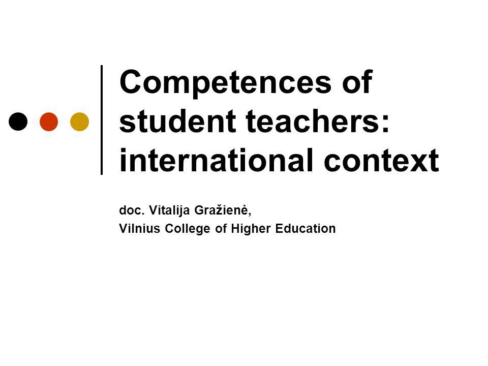 Competences of student teachers: international context doc.