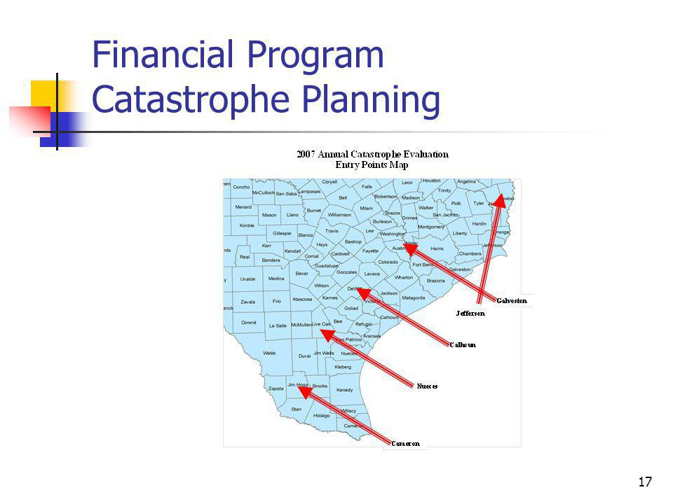 17 Financial Program Catastrophe Planning