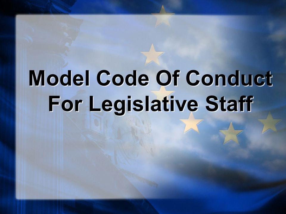Model Code Of Conduct For Legislative Staff