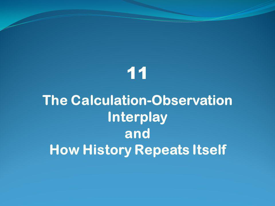 11 The Calculation-Observation Interplay and How History Repeats Itself
