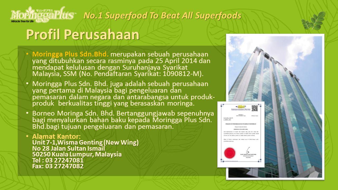 Profil Perusahaan Moringga Plus Sdn.Bhd. merupakan sebuah perusahaan yang ditubuhkan secara rasminya pada 25 April 2014 dan mendapat kelulusan dengan