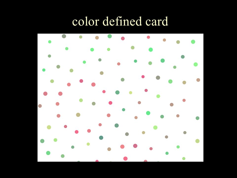 color defined card