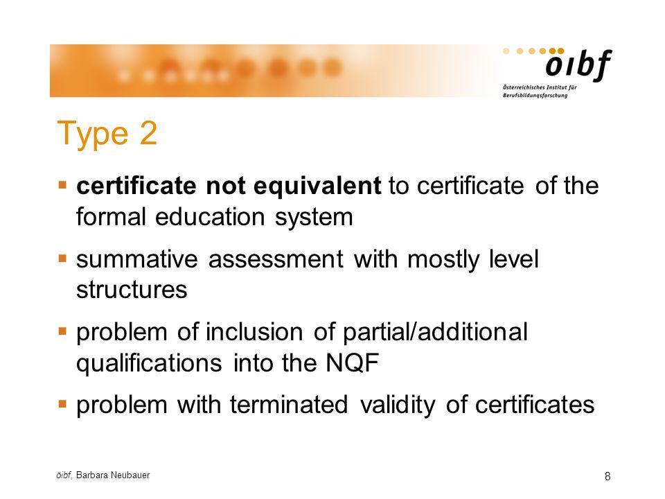 öibf, Barbara Neubauer 9 Type 2 - examples  ICT certificates e.g.