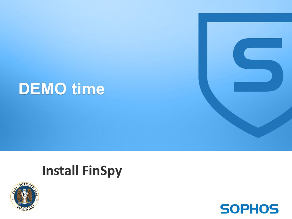 15 DEMO time Install FinSpy