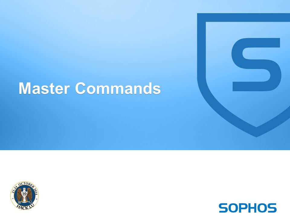 26 Master Commands