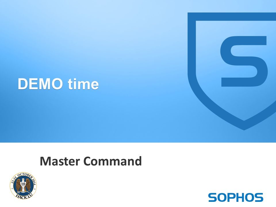 29 Master Command DEMO time