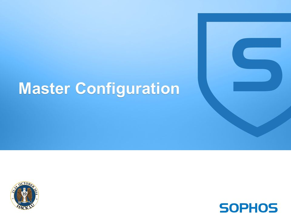 30 Master Configuration