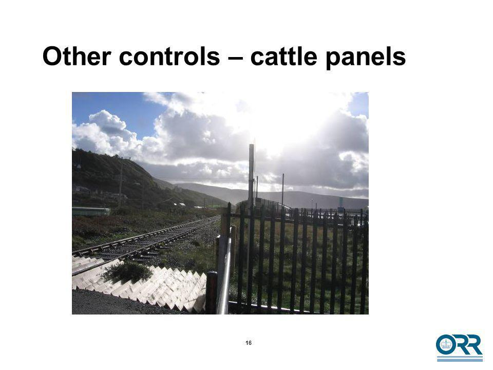 16 Other controls – cattle panels