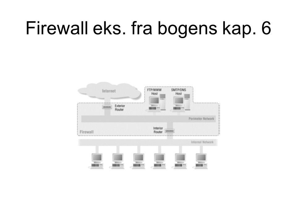 Firewall eks. fra bogens kap. 6