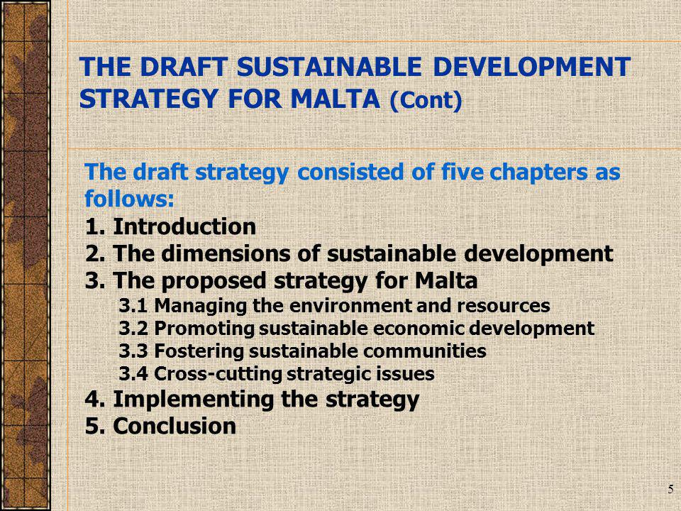 36 The consultation process with major groups and with focus groups will round up the first phase, which was concerned with the developing of an overarching strategy consisting of a number of strategic directions The next phase will be the setting of targets and indicators for the strategic directions set.