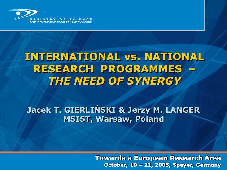 International collaboration – why.