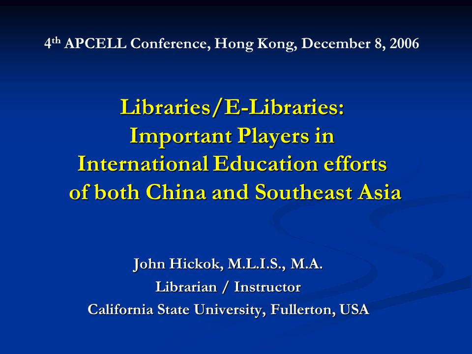 Results of Libraries' efforts 1.International resources are more accessible.