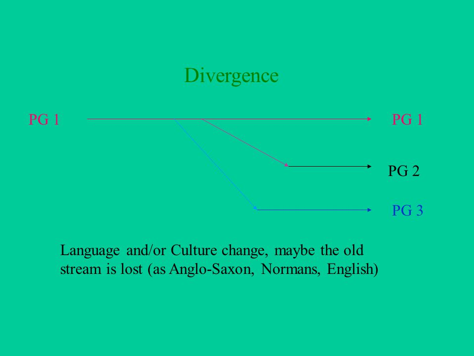 Shifting Ethnic Streams PG 1 PG 2 Language and Culture, maybe with slight variations It is possible to shift language streams without shifting ethnic streams.