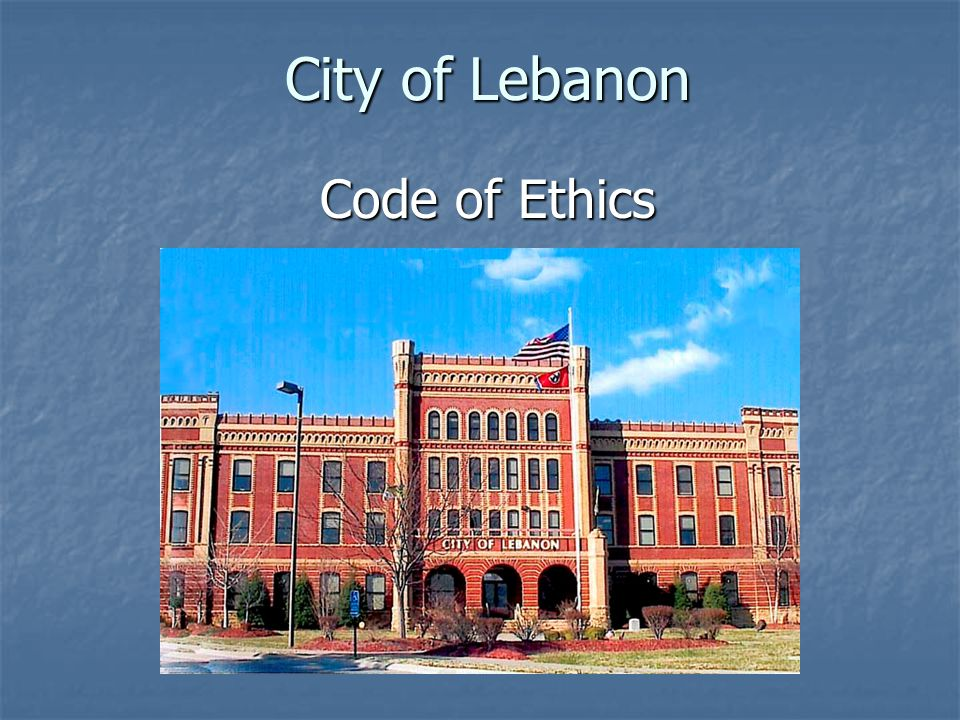 City of Lebanon Code of Ethics