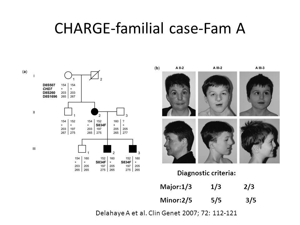 CHARGE-familial case-Fam A Delahaye A et al.