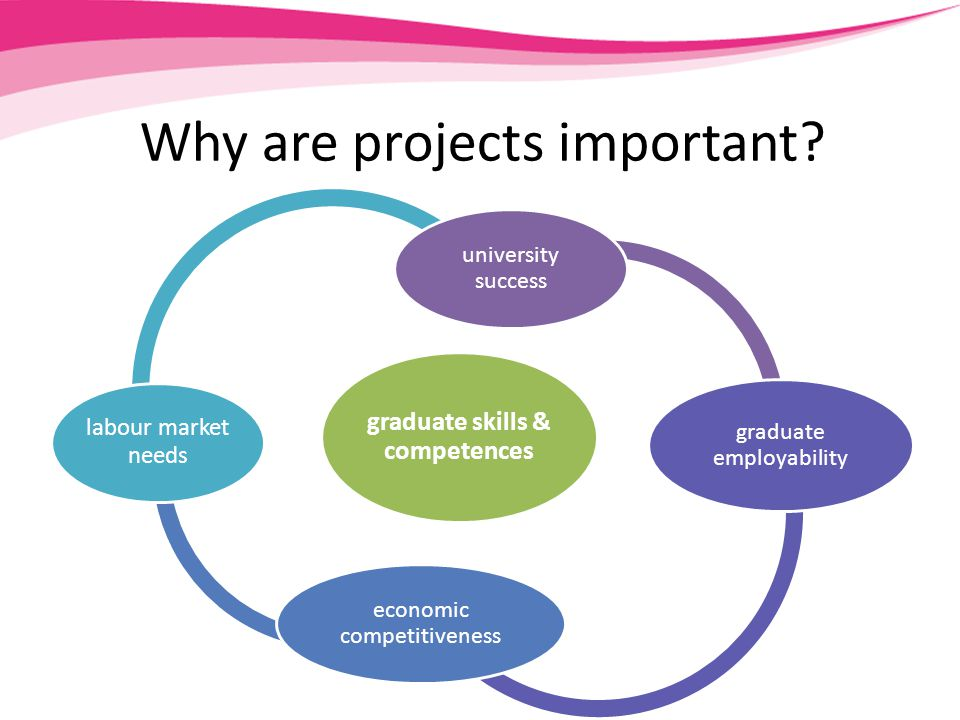 Projects develop employability skills subject knowledge communication skills teamwork skills critical thinking problem-solving industry links labour market entry