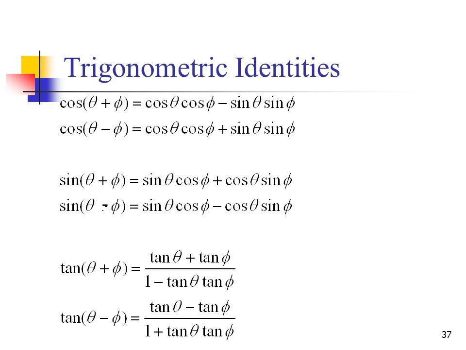 37 Trigonometric Identities -