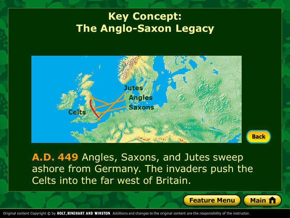 Comprehension Check What event led to the Anglo-Saxon invasion of the British provinces.