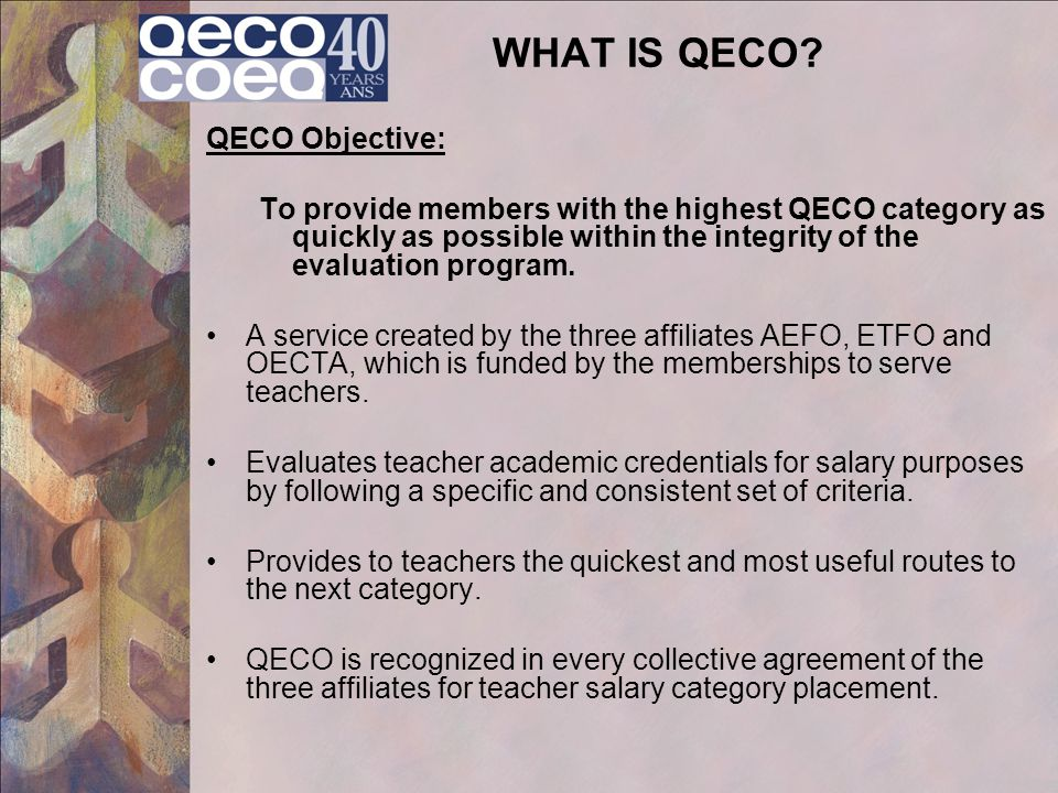 WHAT IS QECO.