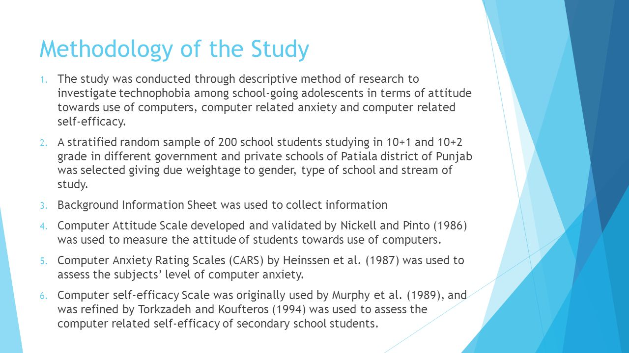 RESULTS  The use of t-test was made to find out the significant of differences in technophobia in terms of gender, type of school, stream and academic achievement of secondary school students.