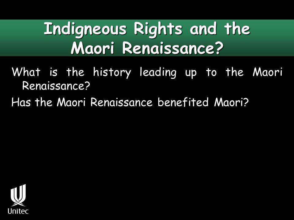 What is the Maori renaissance.