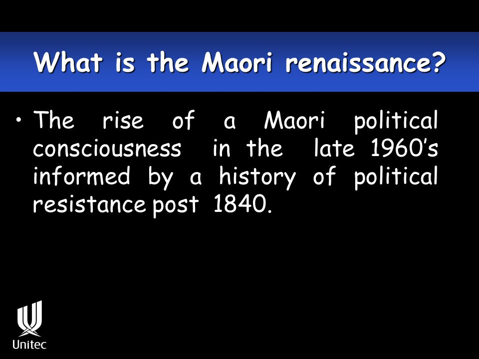 Maori responses to colonisation 1840 – 1900 Military/warfare Religious movements Political 1900 – 2000+ Political Social/cultural Legal