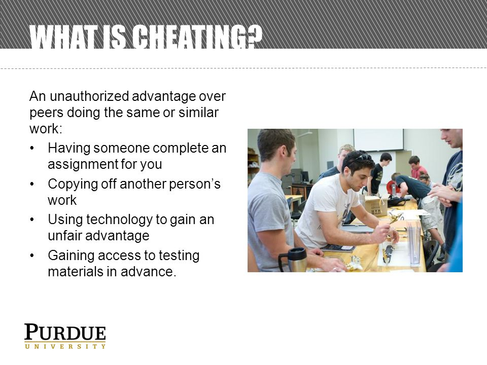 WHAT IS CHEATING.