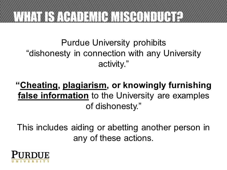 WHAT IS ACADEMIC MISCONDUCT.