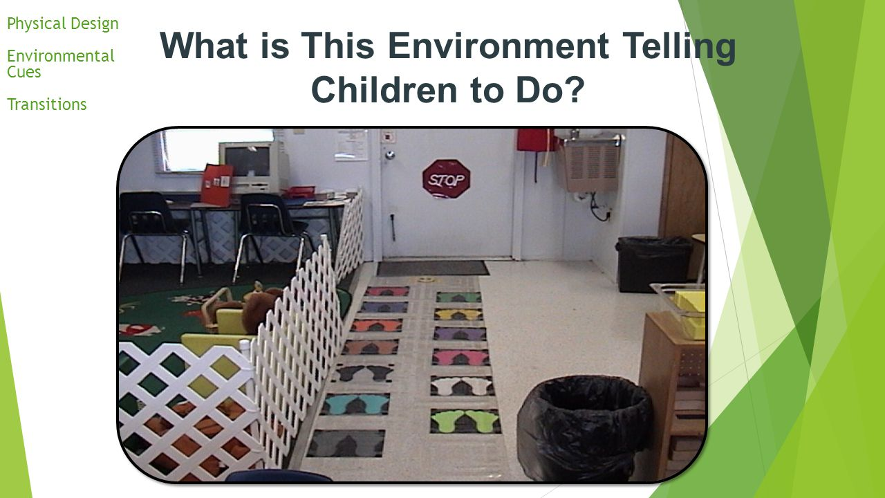 What is This Environment Telling Children to Do? Physical Design Environmental Cues Transitions