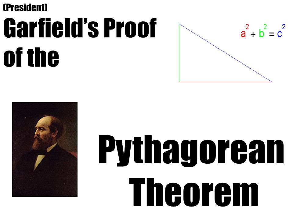Garfield's Proof of the Py thagorean Theorem (President)