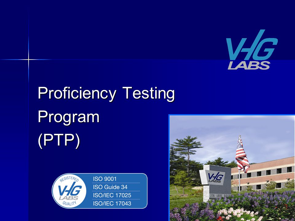 Proficiency Testing Program(PTP)