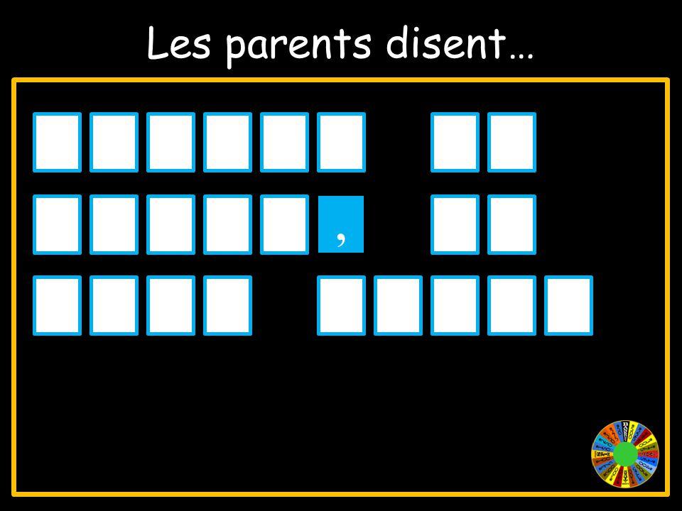 Les parents disent… FERMEZLA PORTE,IL FAITFROID