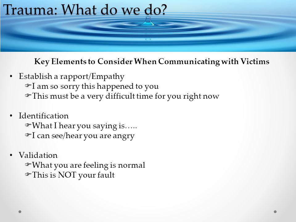 Trauma: What do we do.