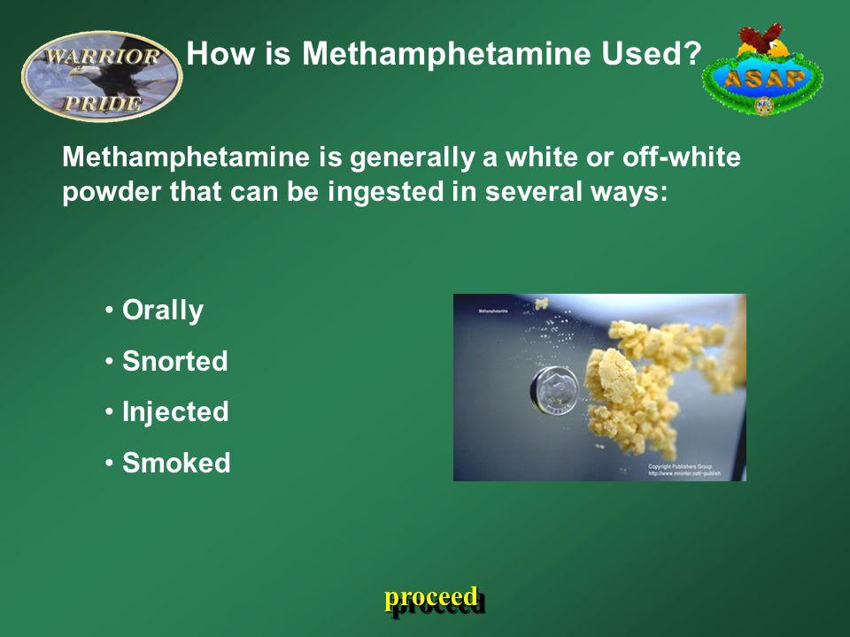 How is Methamphetamine Used.