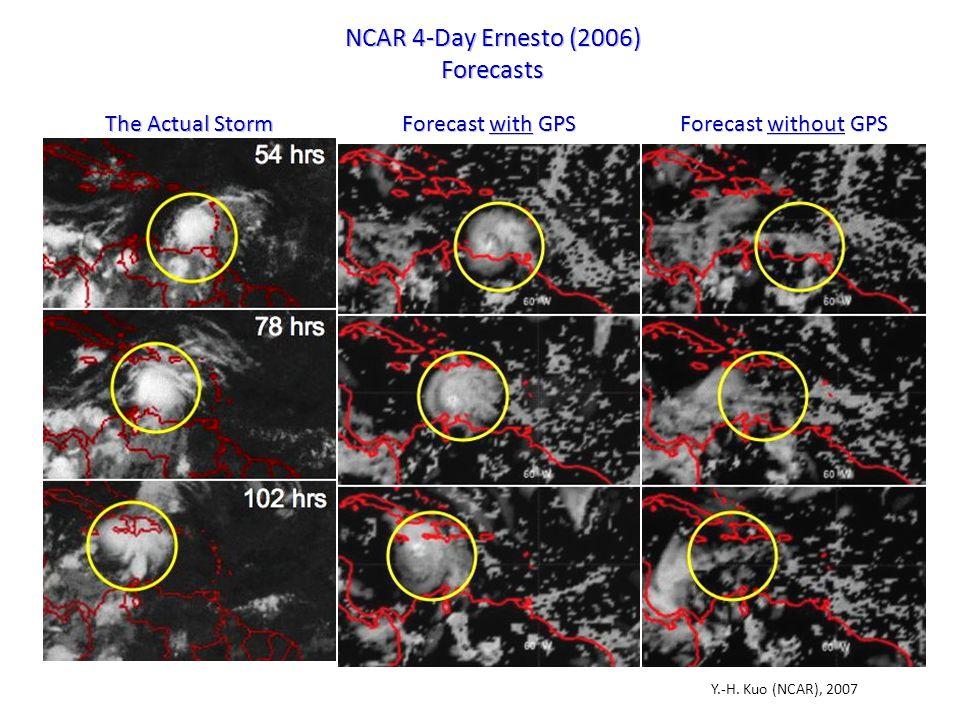 NCAR 4-Day Ernesto (2006) Forecasts Y.-H.
