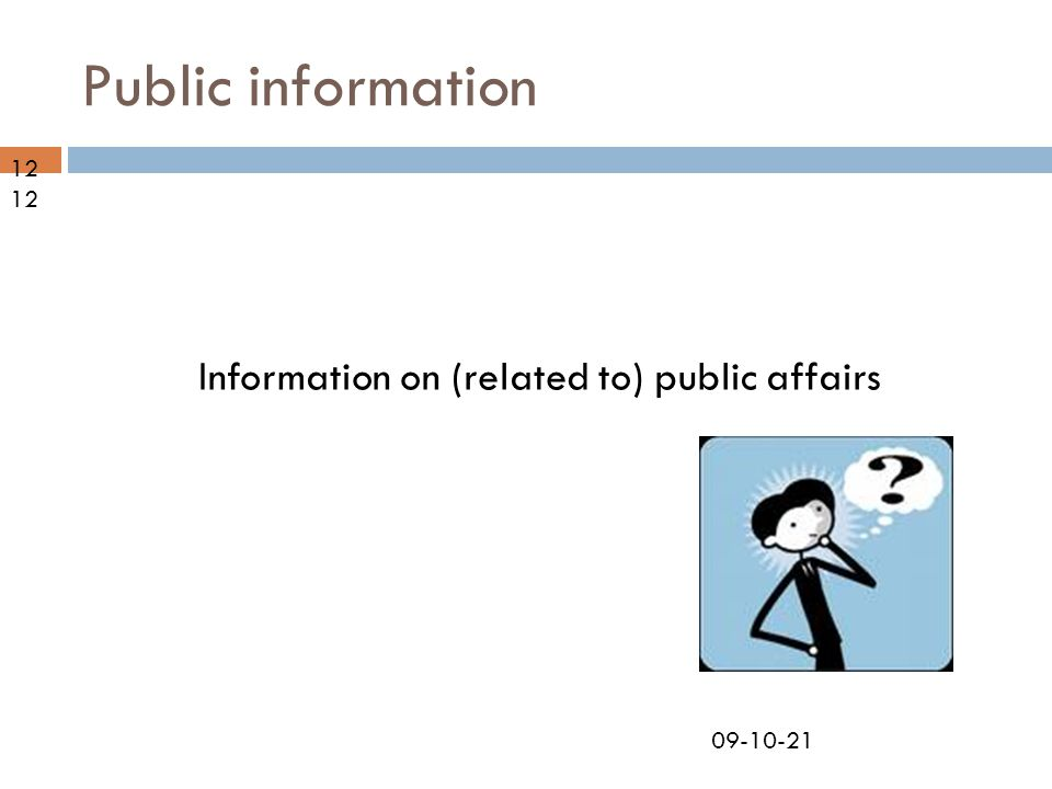 09-10-21 Public information Information on (related to) public affairs 12